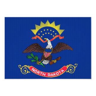 North Dakota State Flag 13 Cm X 18 Cm Invitation Card