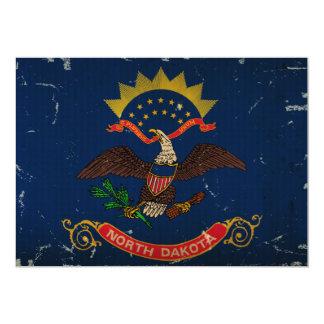 North Dakota State Flag VINTAGE. Personalized Invitation