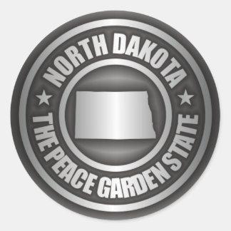 North Dakota Steel Classic Round Sticker
