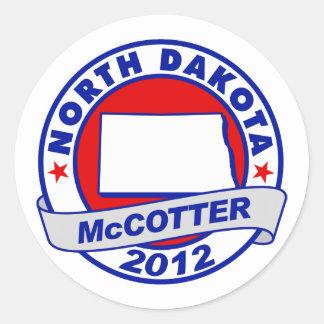 North Dakota Thad McCotter Round Stickers