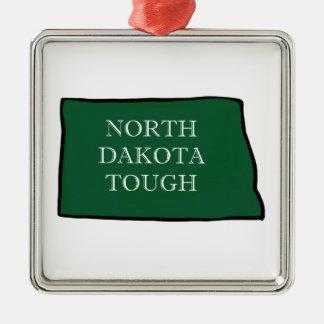 North Dakota Tough Metal Ornament