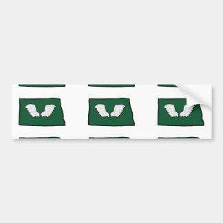 North Dakota Tough Wings Bumper Sticker