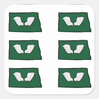 North Dakota Tough Wings Square Sticker