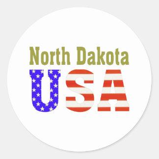 North Dakota USA Aashen alpha Classic Round Sticker