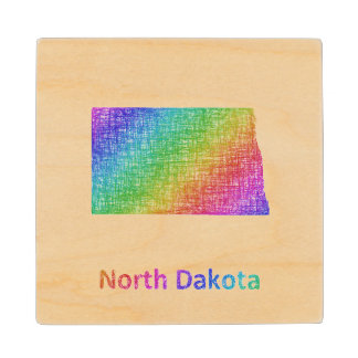 North Dakota Wood Coaster