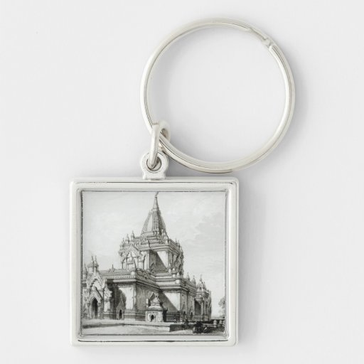 North Eastern view of Gaudapalen Temple at Pagan Key Chain