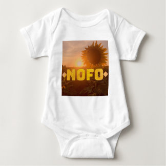 north fork nofo sunflowers baby bodysuit