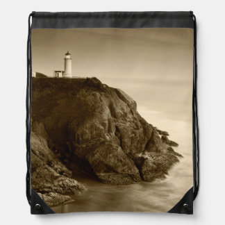 North Head Lighthouse   Fort Canby State Park, WA Drawstring Bag