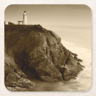 North Head Lighthouse | Fort Canby State Park, WA Square Paper Coaster