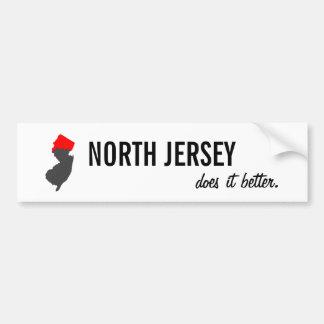 """North Jersey Does it Better"" NJ Bumper Sticker"