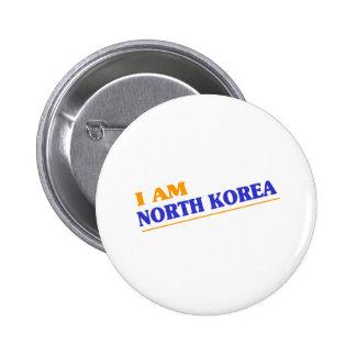 NORTH KOREA 6 CM ROUND BADGE