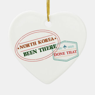 North Korea Been There Done That Ceramic Heart Decoration