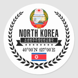 North Korea Classic Round Sticker