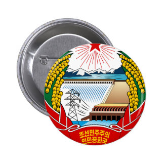 North Korea Coat Of Arms 6 Cm Round Badge