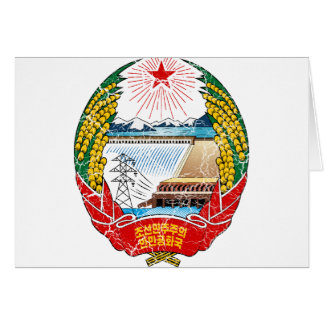 North Korea Coat Of Arms Card