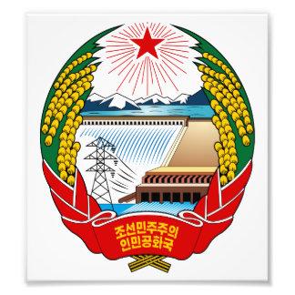 North Korea Coat Of Arms Photo Art