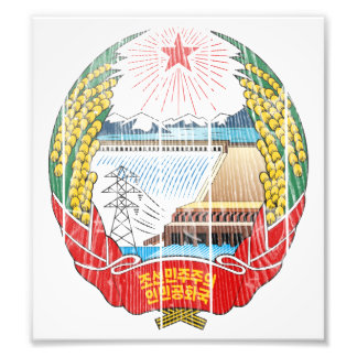 North Korea Coat Of Arms Photograph
