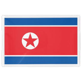 North Korea Flag Acrylic Tray