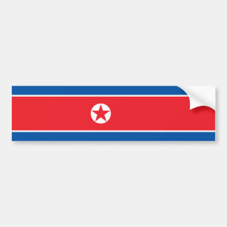 North Korea Flag Bumper Sticker