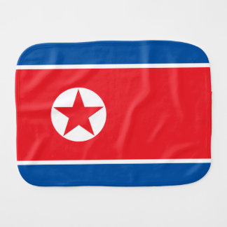 North Korea Flag Burp Cloth