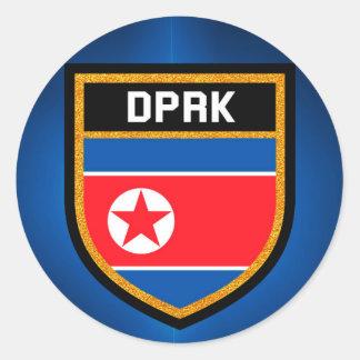 North Korea Flag Classic Round Sticker