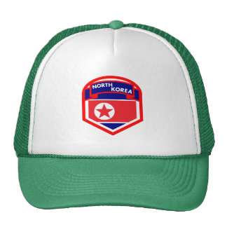 North Korea Flag Coat of Arms Cap