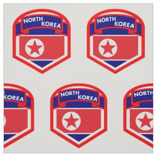 North Korea Flag Crest Fabric
