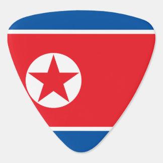 North Korea Flag Guitar Pick