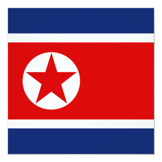 North Korea Flag Invitation
