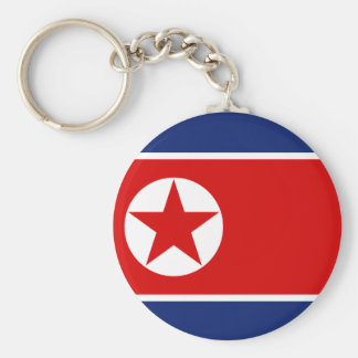 North Korea Flag Keychain