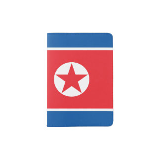 North Korea Flag Passport Holder