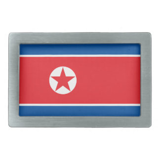 North Korea Flag Rectangular Belt Buckle
