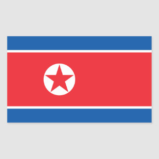 North Korea Flag Rectangular Sticker