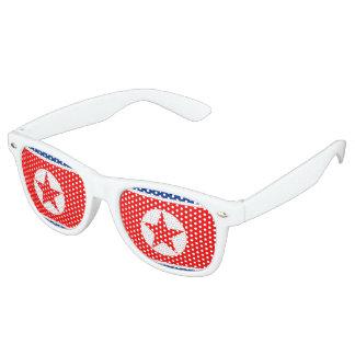 North Korea Flag Retro Sunglasses