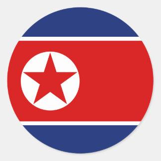 North Korea Flag Round Sticker