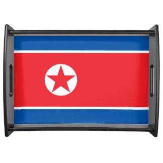 North Korea Flag Serving Tray