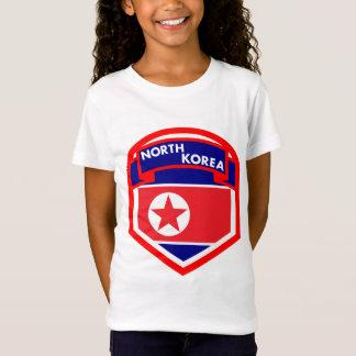 North Korea Flag Shield T-Shirt