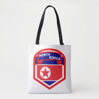 North Korea Flag Shield Tote Bag