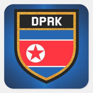 North Korea Flag Square Sticker