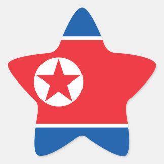 North Korea Flag Star Sticker