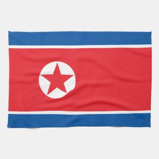 North Korea Flag Tea Towel
