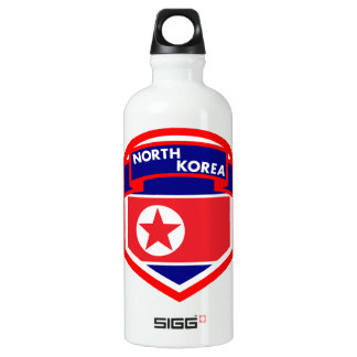 North Korea Flag Water Bottle