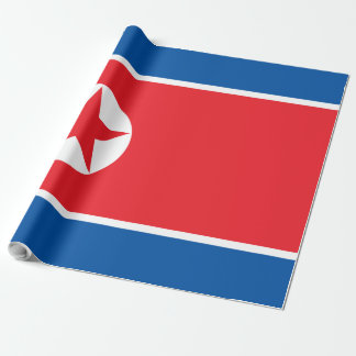 North Korea Flag Wrapping Paper