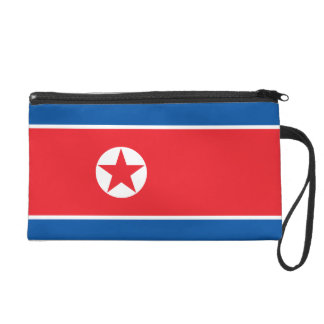 North Korea Flag Wristlet