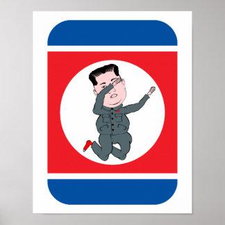 North Korea Kim Jong Un Dabbing Poster