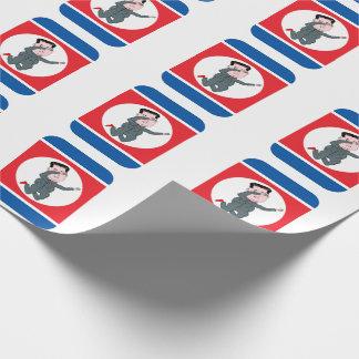 North Korea Kim Jong Un Dabbing Wrapping Paper