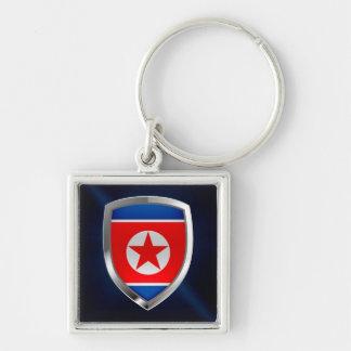 North Korea Metallic Emblem Key Ring