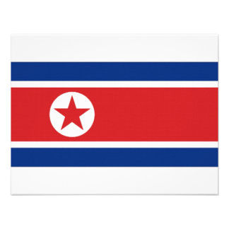 North Korea National Flag Personalized Announcement