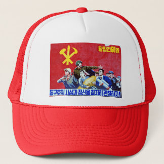 North Korean Communist Party Poster Trucker Hat