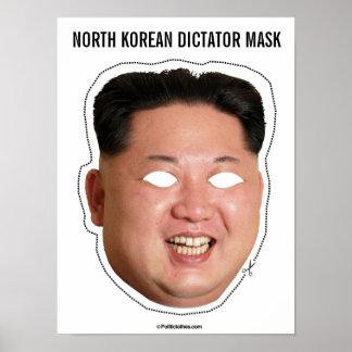 North Korean Dictator Mask Poster
